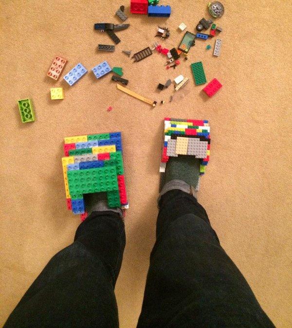 pantunflas de lego