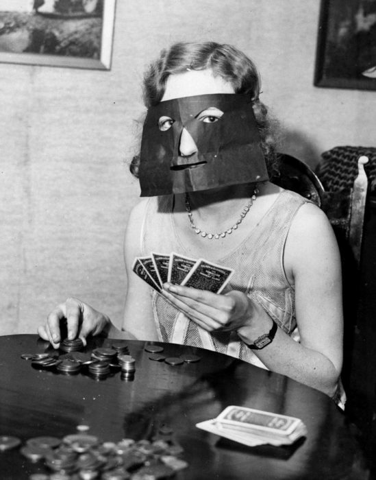 máscara de cartas
