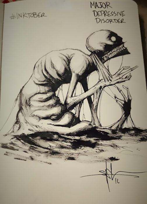 ilustración de Trastorno de Depresión Masiva