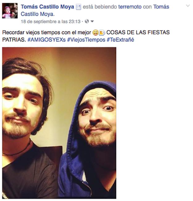 selfie de dos hombres que en realidad son la misma persona