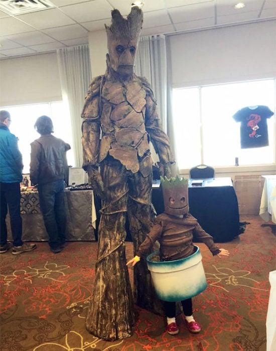 groot y bebé groot cosplay