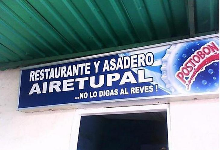 restaurante y asadero cartel subliminal