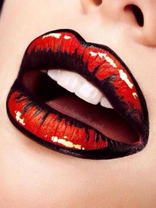 labios de historieta