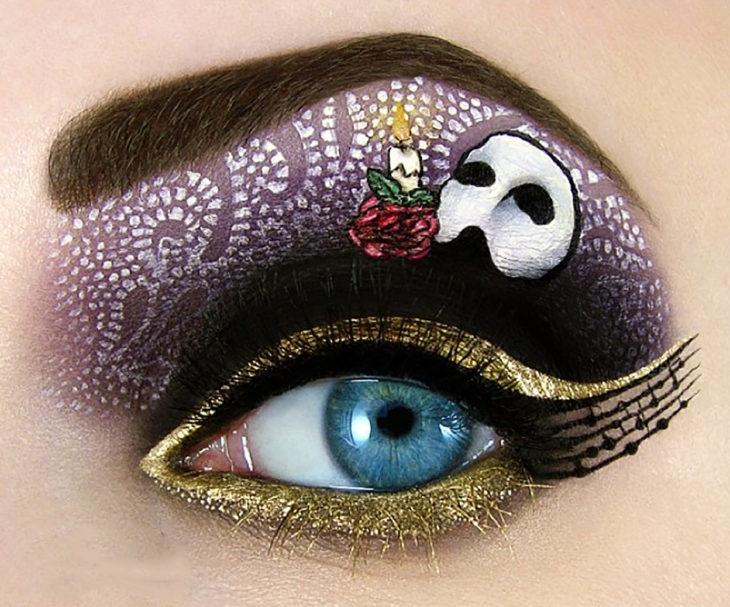 maquillaje para ojos del fantasma de la ópera