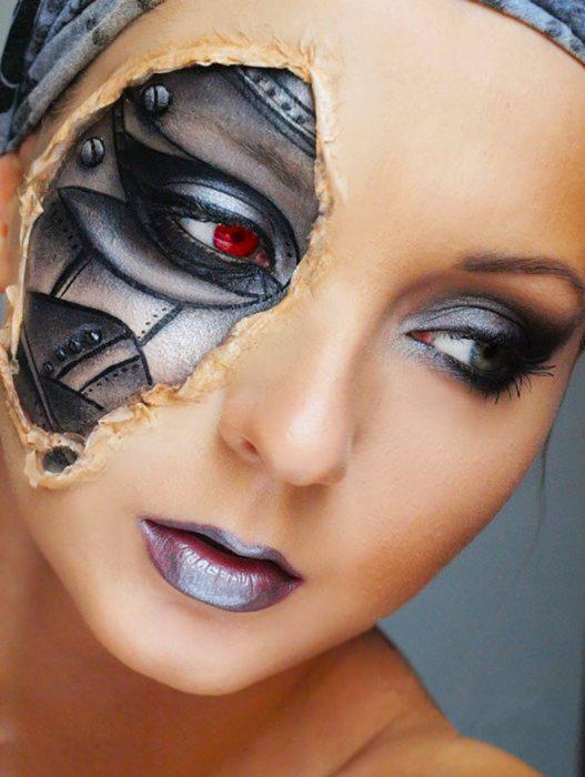 maquillaje de máquina