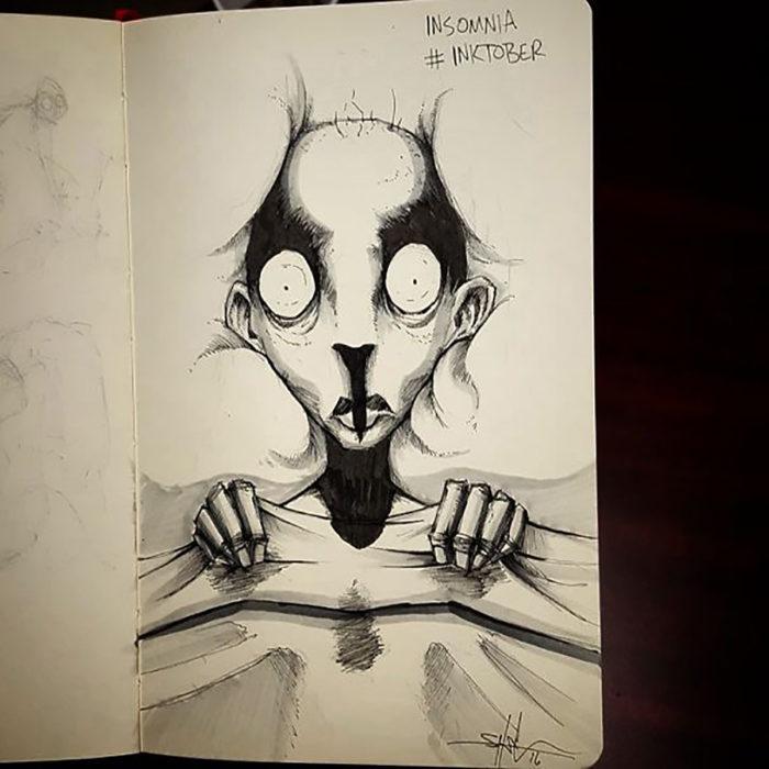 ilustración de insomnio