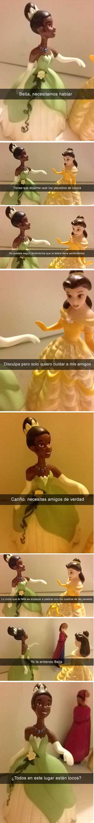 Historia snapchat, conversación Bella y Tiana