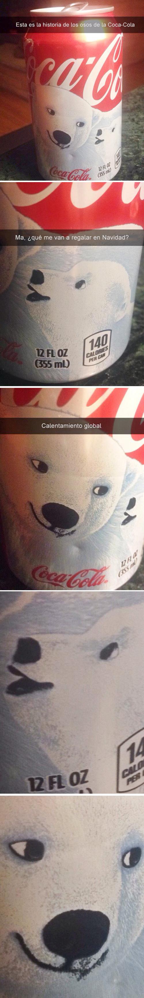 Historia snapchat, historia de osos de Coca Cola