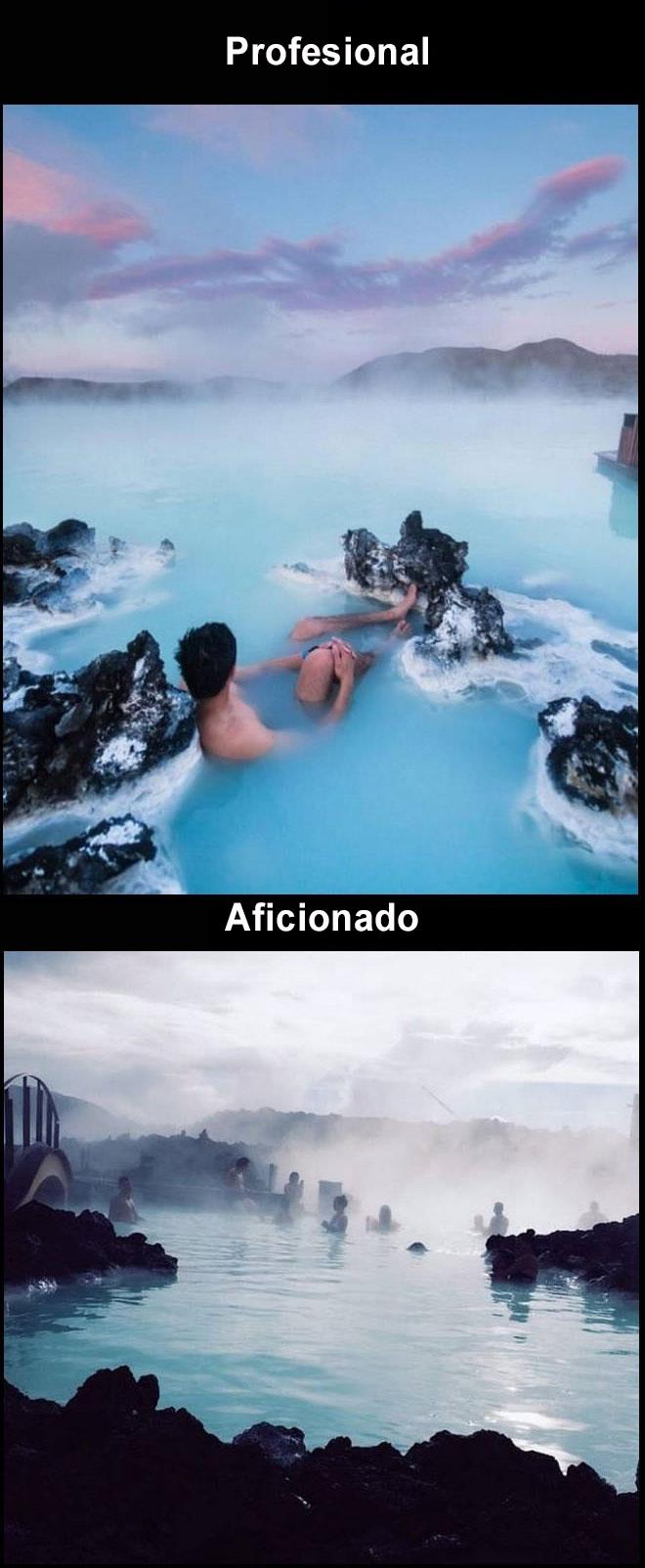 Foto profesional vs. amateur Islandia