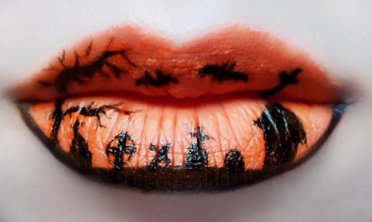 labios temáticos halloween