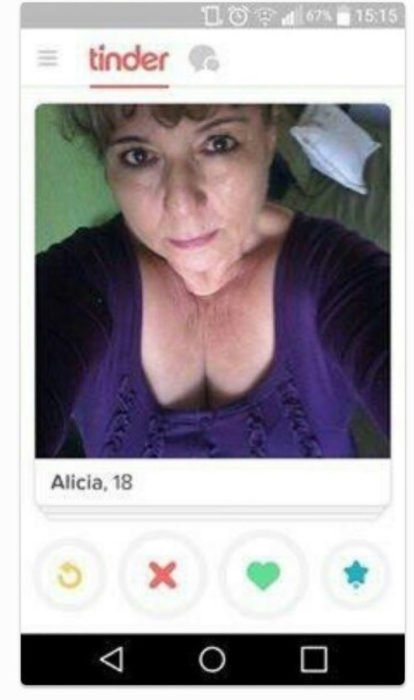 mujer foto de tinder