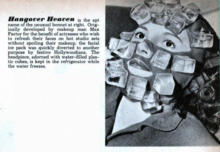 máscara de hielo para curar la resaca