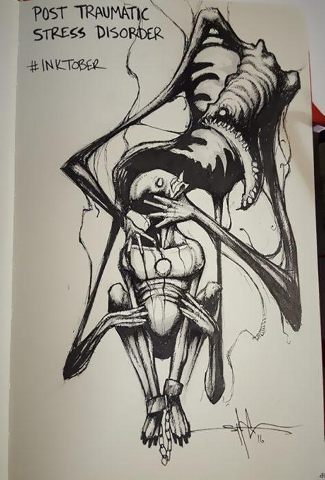 ilustración de Estrés Postraumático