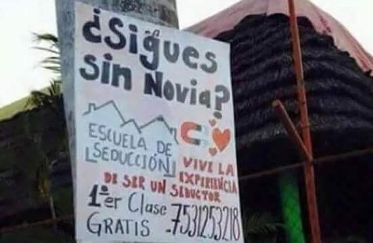 cartel escuela de seducción