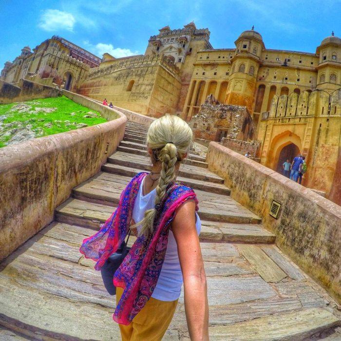 foto turista en India