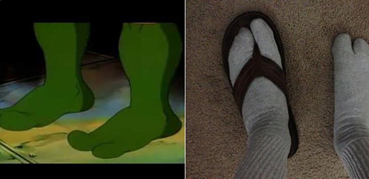 pies de las tortugas ninjas