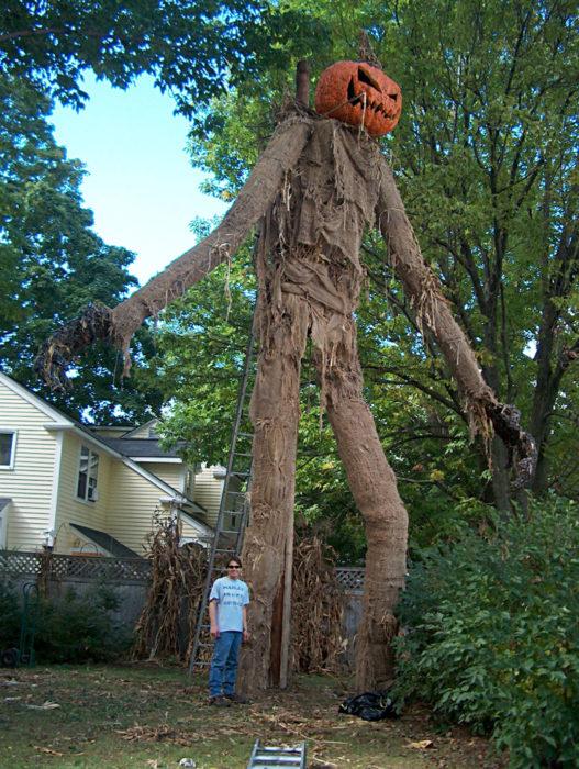 decoración de exterior halloween gigante cabeza de calabaza