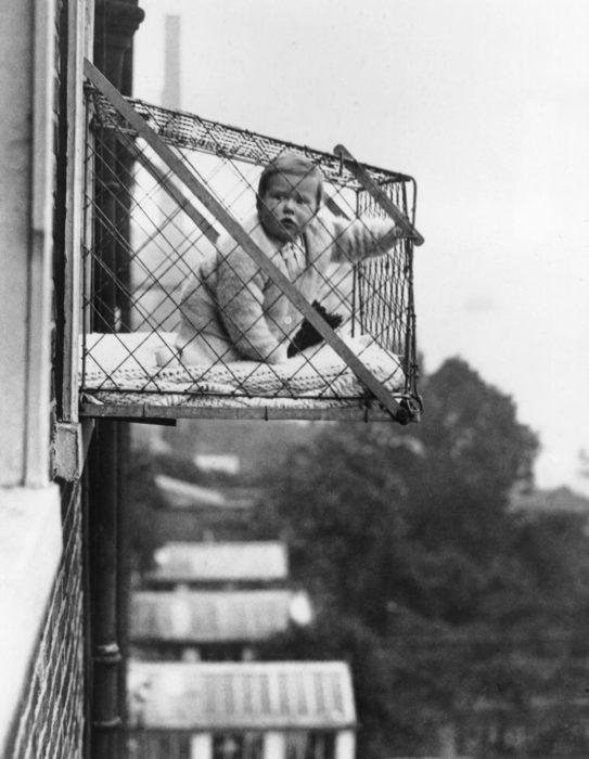 jaula para bebé de exteriores