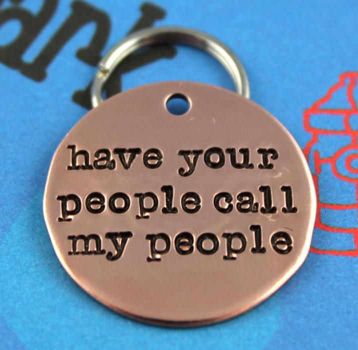 collar que tu gente llame a mi gente