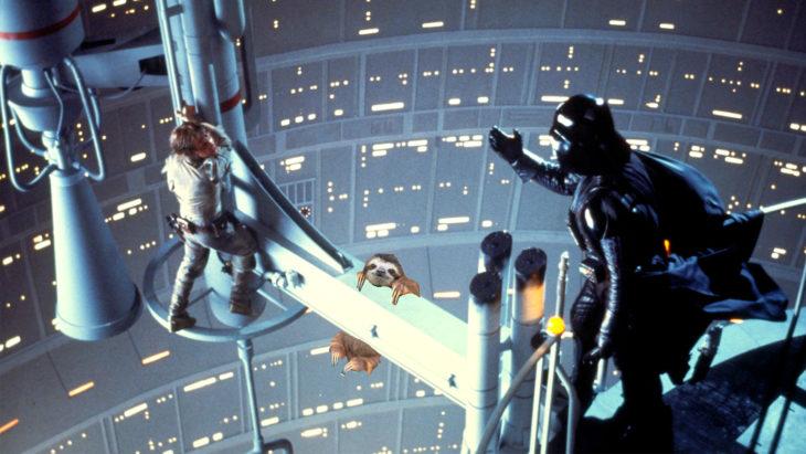 perezoso editado en escena de star wars