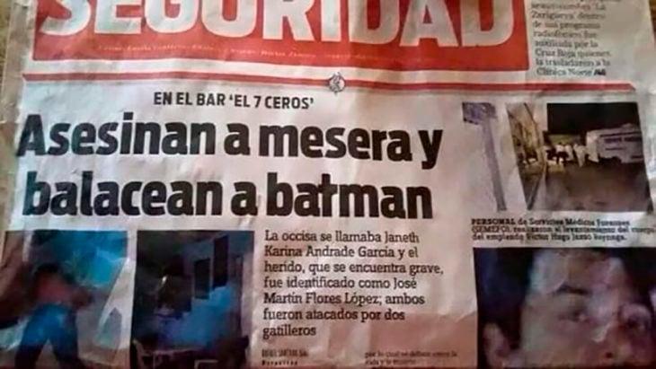 periódico asesinan a batman