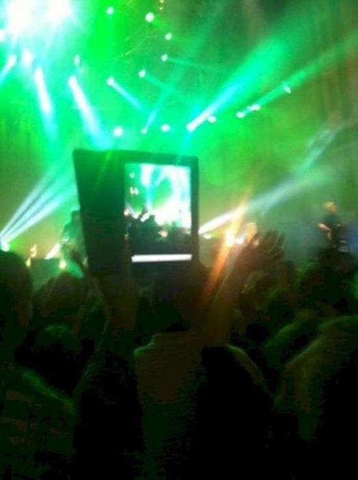 ipad en concierto