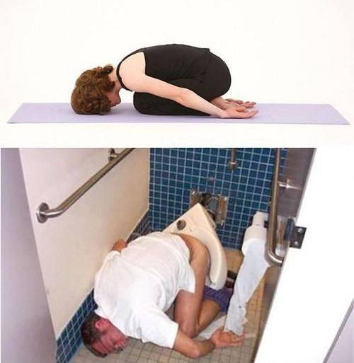 Poses yoga borrachos - Ratón dormido