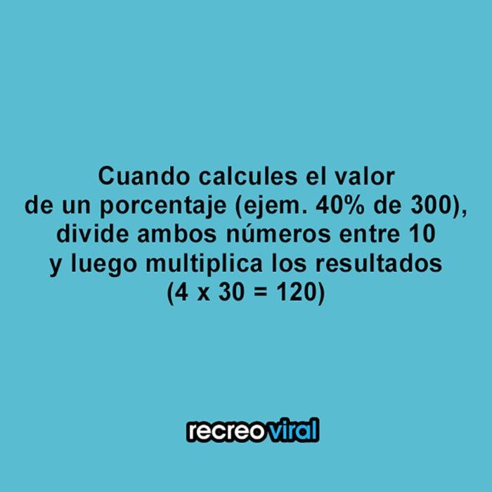 cómo encontrar el porcentaje de un número