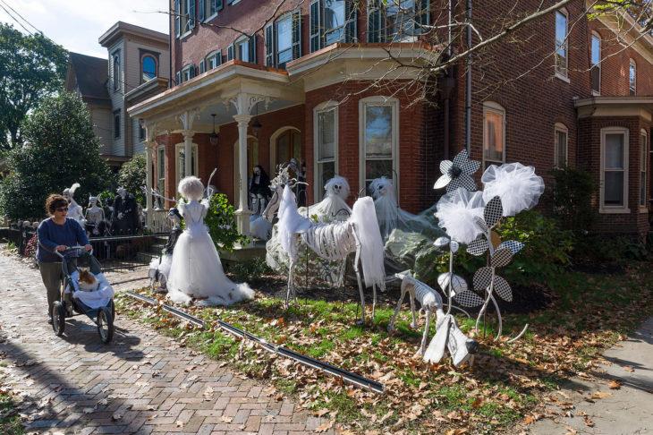 decoración de exterior halloween fiesta de fantasmas