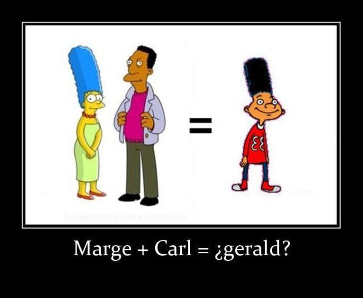 carl, marge simpson y gerald