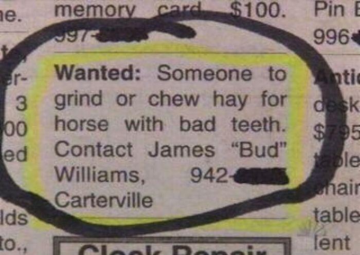 anuncio de periódico