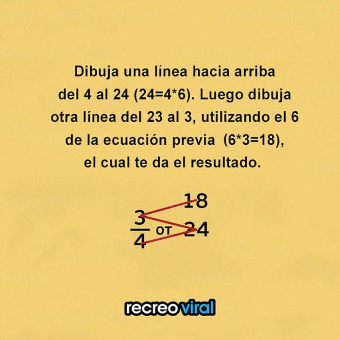 cómo encontrar una fracción de un número entero