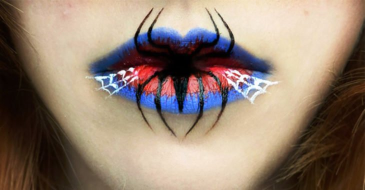 labios de spiderman