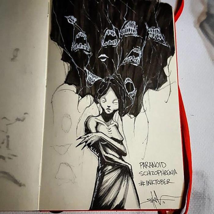ilustración de Esquizofrenia Paranoide