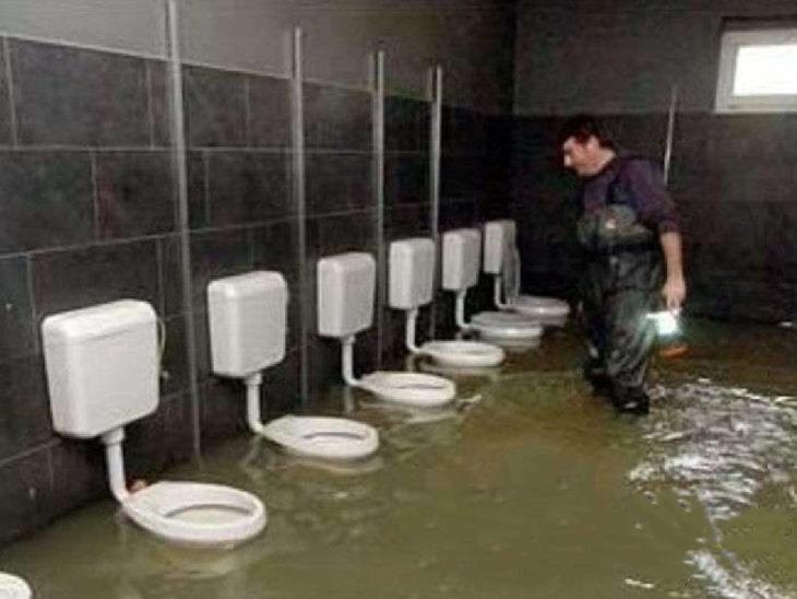 baños inundados