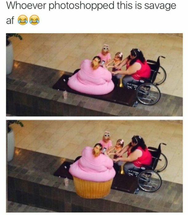 foto editada señora gorda en panquesito