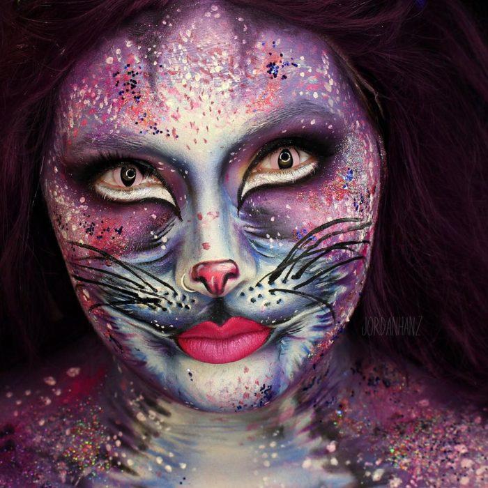 maquillaje de gato risón
