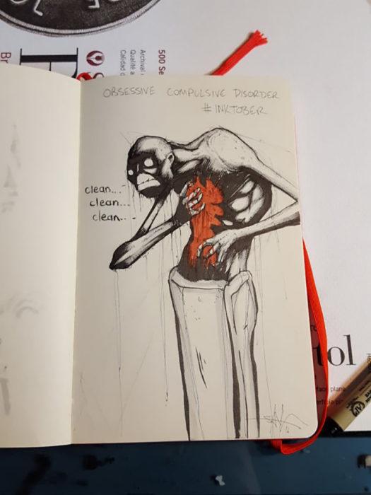 ilustración de Trastorno Obsesivo Compulsivo
