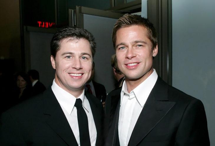 Brad Pitt con su hermano Doug