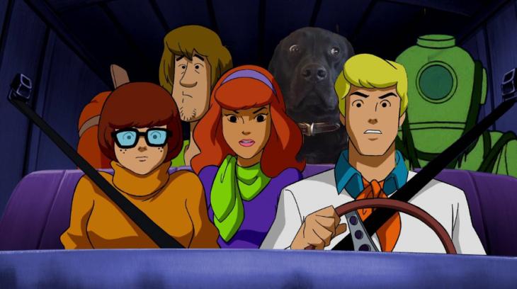 Batalla PS - perro con personajes de scooby doo