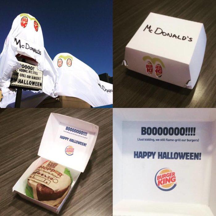 Burger King se disfraza de mcdonald hasta en sus entregas