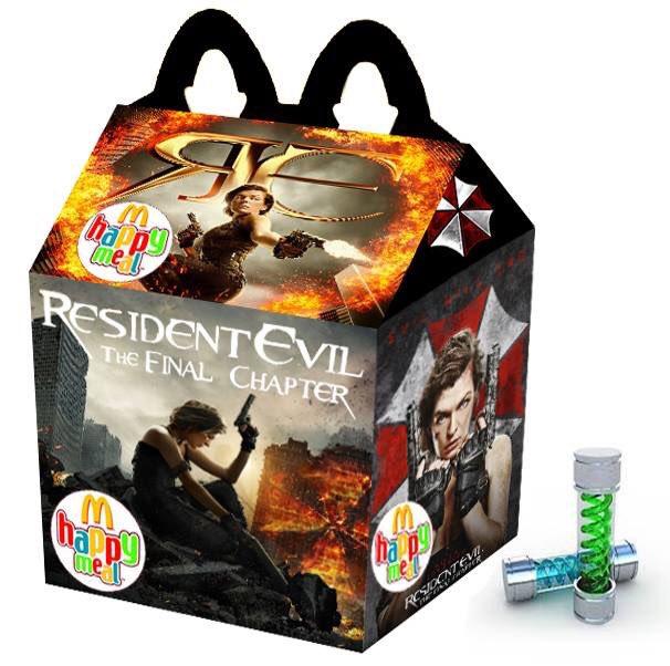 Cajita feliz mcDonalds adultos - resident evil