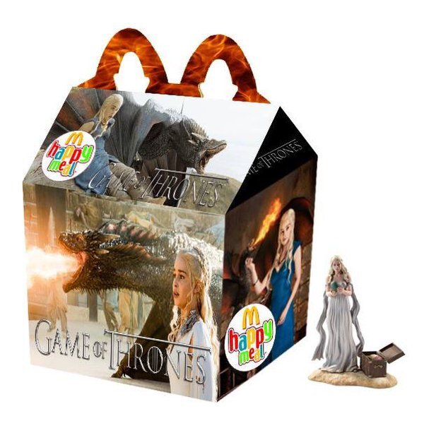 Cajita feliz mcDonalds adultos - game of thrones