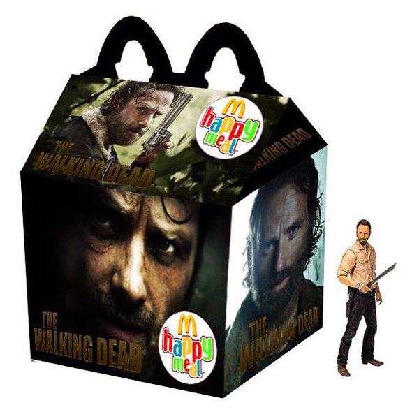 Cajita feliz mcDonalds adultos - the walking dead