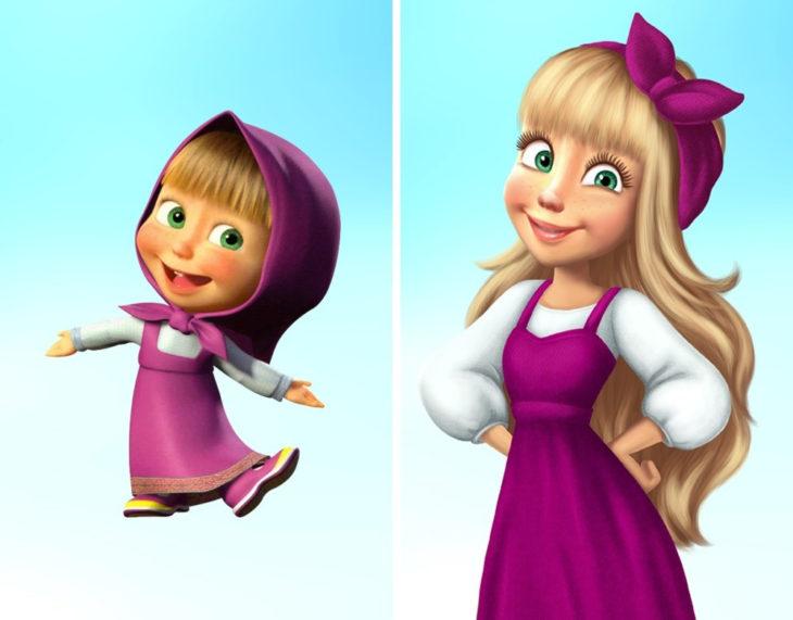 Personaje Masha y el oso ahora