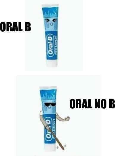 Chistes malos - oral b