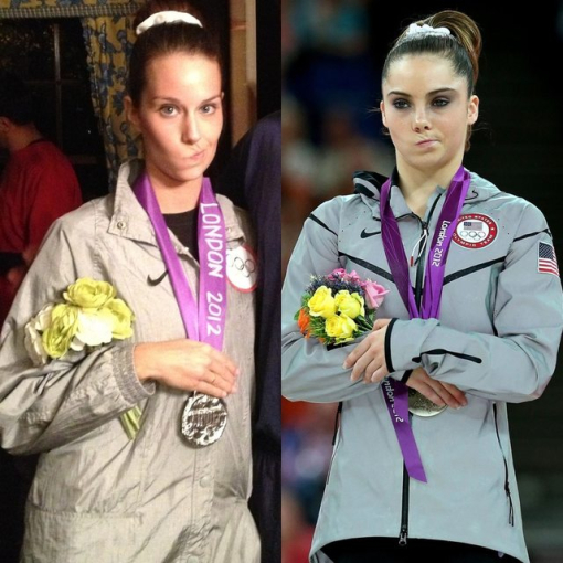 Disfraz de atleta olímpica enojada