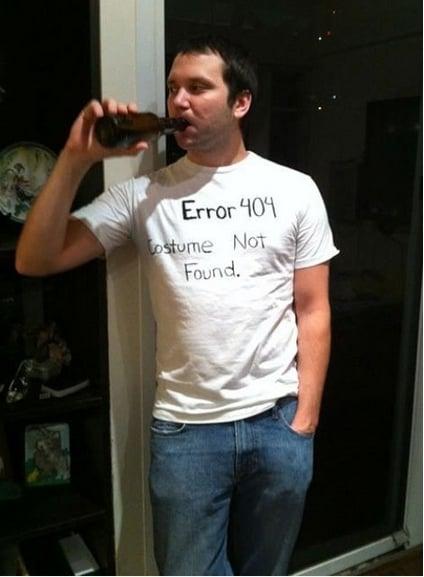 Disfraz con error 404