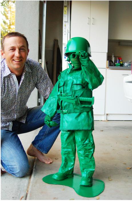 Disfraces niños soldado verde