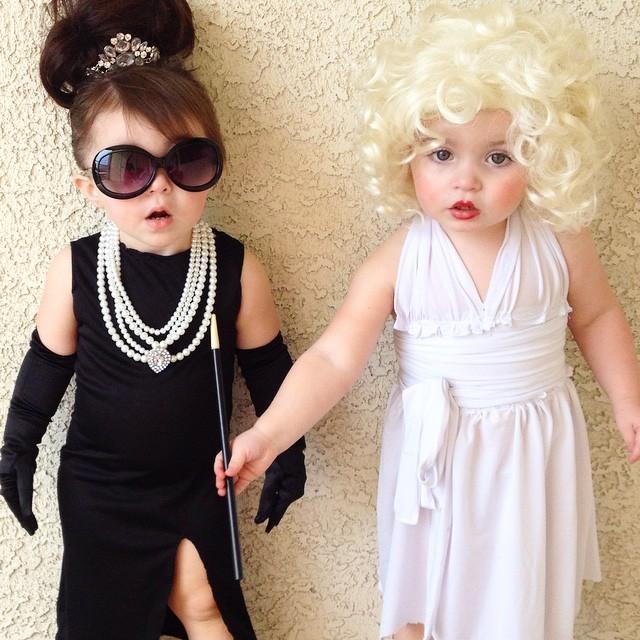 Disfraces niños marilyn y audrey